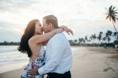 Sunrise engagement photo session